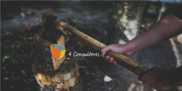 Cuento del leñador y su hacha www.4consultores.com.co