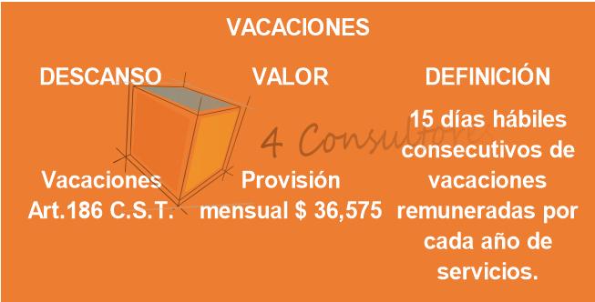 8. VACACIONES 2020 www.4consultores.com.co